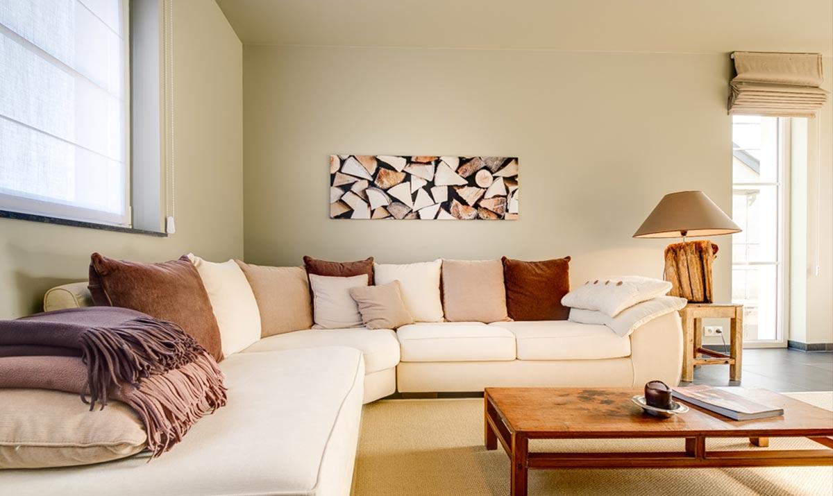 Salon beige gris blanc: tendance peinture les couleurs naturelles ...